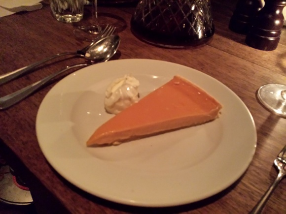 Guardian Soulmates Dating Restaurant Review - Ducksoup - Blood Orange Tart